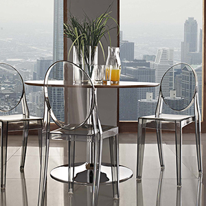Casper Dining Chairs Set of 2 in Smoke