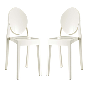 Casper Dining Chairs Set of 2 in White