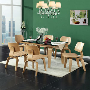 Fathom Dining Chairs Set of 6 in Tan