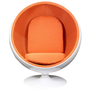 Kaddur Lounge Chair in Orange