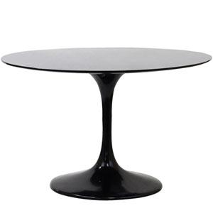 Lippa 48-Inch Fiberglass Dining Table in Black