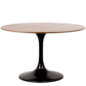 Lippa 48-Inch Walnut Dining Table in Black