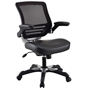 Edge Leatherette Office Chair in Black