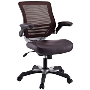 Edge Leatherette Office Chair in Brown