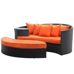 Taiji Daybed in Espresso Orange