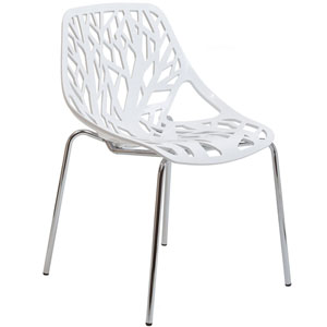Stencil Dining Chair in White