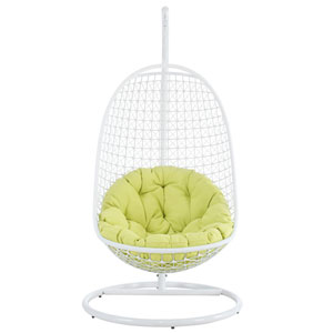 Encounter Lounge Chair in White Green