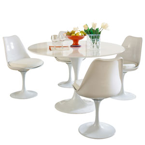 Lippa Dining Set in White
