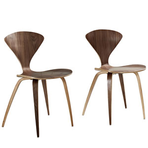 Vortex Dining Chairs Set of Two in Dark Walnut