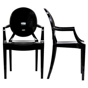 Casper Black Dining Chairs Set of Two