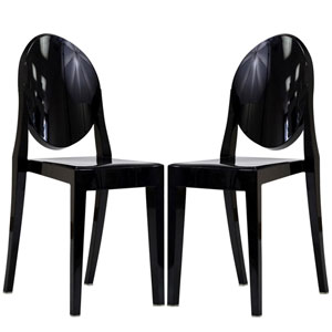 Casper Dining Chairs Set of Two in Black