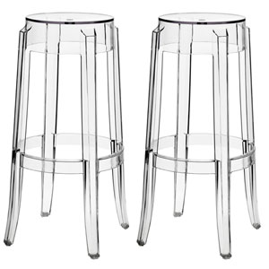 Casper Bar Stools Set of Two in Clear