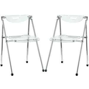Telescope Dining Chairs Set of Two in Clear