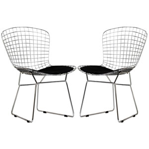 CAD Dining Chairs Set of Two in Black