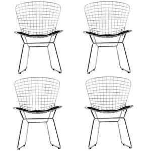 CAD Dining Chairs Set of Four in Black