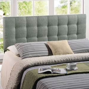 Lily King Fabric Headboard in Gray