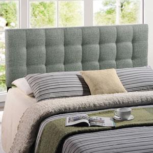 Lily Full Fabric Headboard in Gray