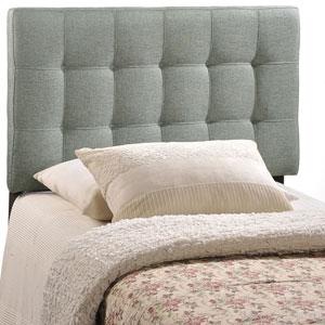 Lily Twin Fabric Headboard in Gray