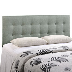 Emily Queen Fabric Headboard in Gray
