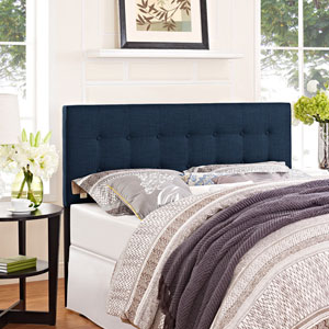 Emily Queen Fabric Headboard in Navy