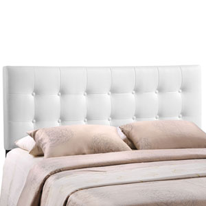 Emily King Vinyl Headboard in White