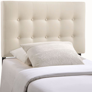 Emily Twin Fabric Headboard in Ivory