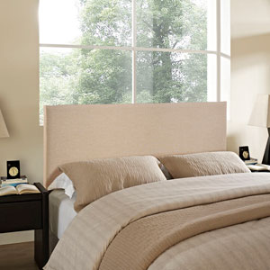Region Queen Upholstered Headboard in Cafe