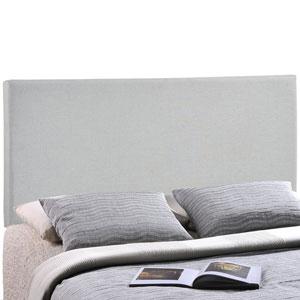 Region Full Upholstered Headboard in Sky Gray