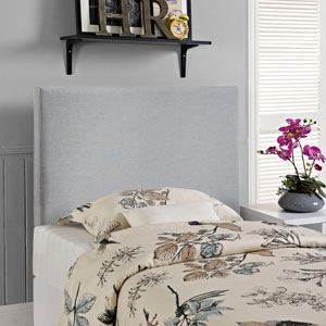 Region Twin Upholstered Headboard in Sky Gray