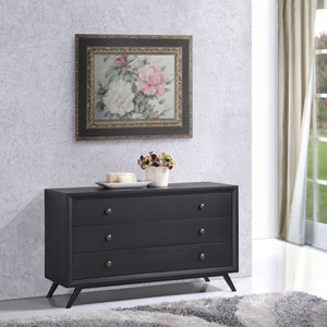 Tracy Wood Dresser in Black
