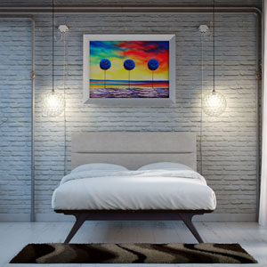Addison 2 Piece Queen Bedroom Set in Black Gray
