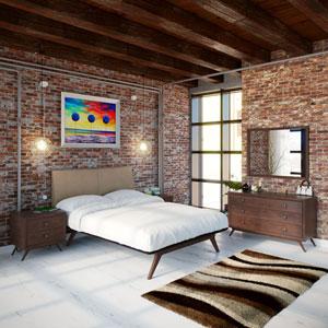 Tracy 5 Piece Queen Bedroom Set in Cappuccino Latte