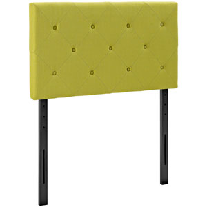 Terisa Twin Fabric Headboard in Wheatgrass