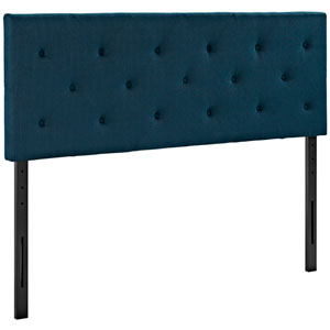 Terisa Queen Fabric Headboard in Azure
