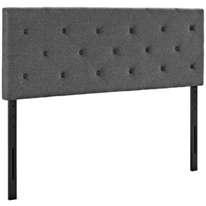 Terisa Queen Fabric Headboard in Gray