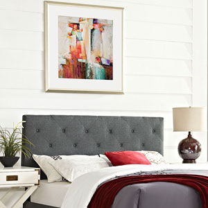 Terisa King Fabric Headboard in Gray