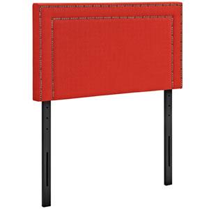 Jessamine Twin Fabric Headboard in Atomic Red