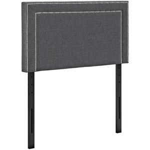 Jessamine Twin Fabric Headboard in Gray