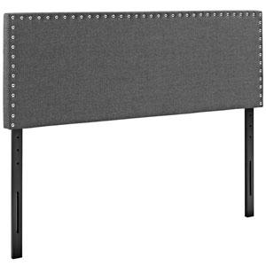 Phoebe Queen Fabric Headboard in Gray