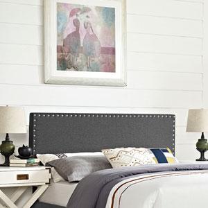 Phoebe King Fabric Headboard in Gray