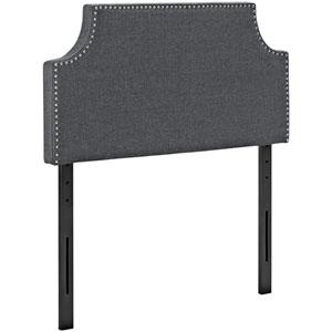 Laura Twin Fabric Headboard in Gray