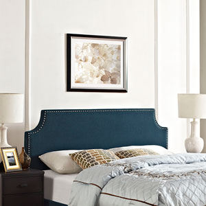 Laura Full Fabric Headboard in Azure