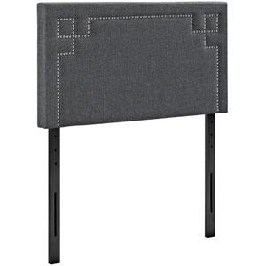 Josie Twin Fabric Headboard in Gray
