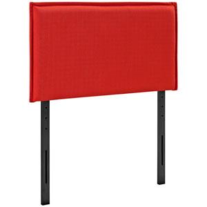 Camille Twin Fabric Headboard in Atomic Red