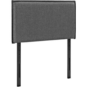 Camille Twin Fabric Headboard in Gray