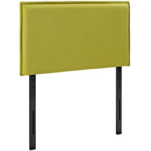 Camille Twin Fabric Headboard in Wheatgrass