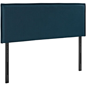 Camille Queen Fabric Headboard in Azure