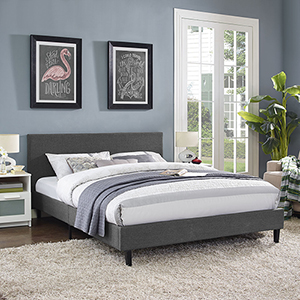 Anya Queen Bed in Gray