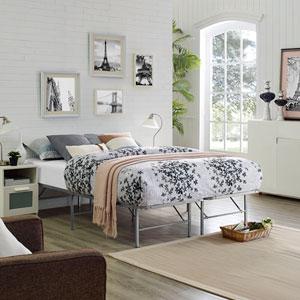 Horizon Full Stainless Steel Bed Frame in Silver