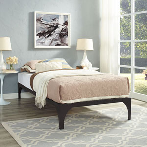 Ollie Twin Bed Frame in Brown